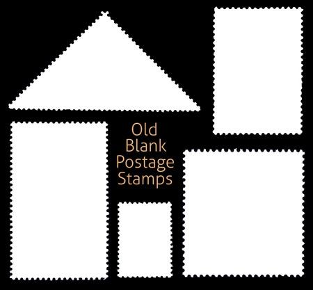 perforated stamp: Blanks Postage Stamp Framed by Black Border