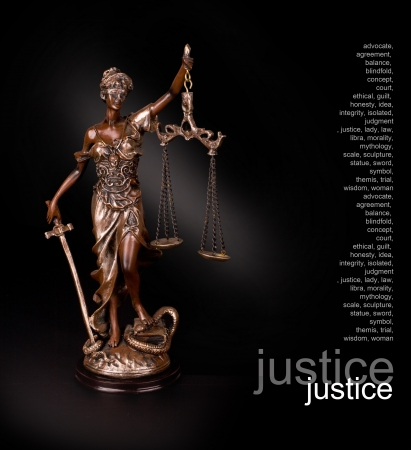 advocate: A picture of a Themis statue standing over black background