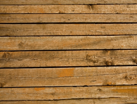 old wooden background with horizontal boards Stock Photo