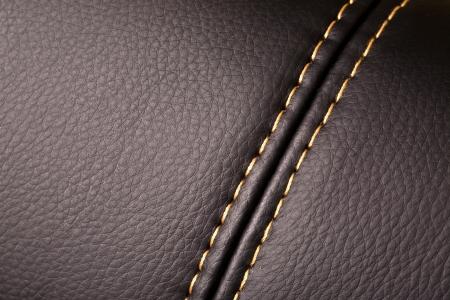 Seam auf Leder Produkt (close up)