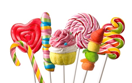 lolli: Colourful lollipop isolated on the white background