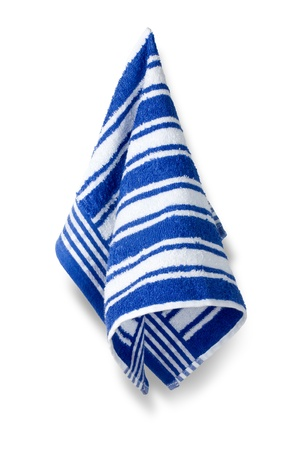 dishcloth: Kitchen towel isolated on white background, clipping path included