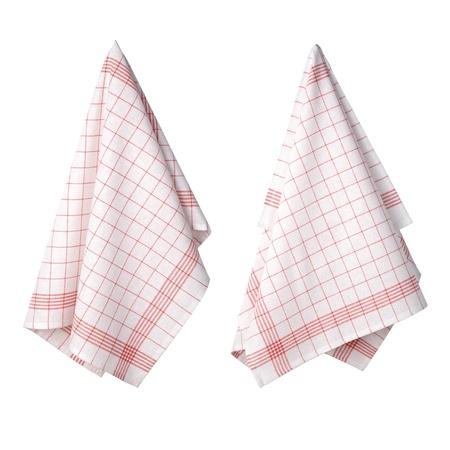 deux serviettes de cuisine isolé sur fond blanc Banque d'images