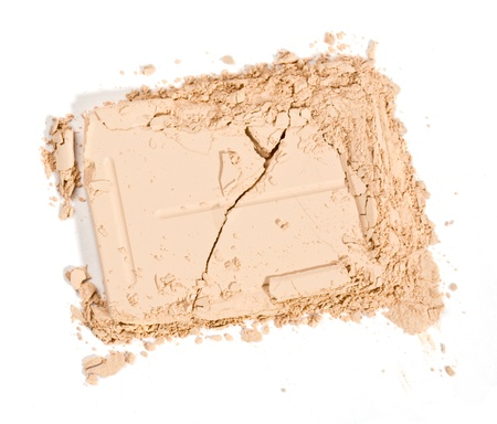 close up of a make up powder on white background Stock Photo - 19299356