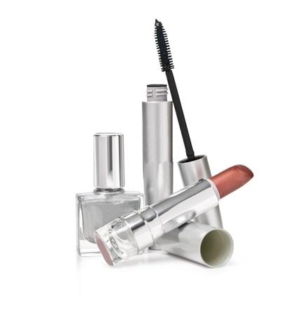 new makeup set isolated on white background Stock Photo - 19497041
