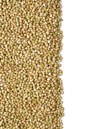 green buckwheat on white background with clipping path photo