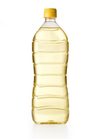 cooking oil: cooking oil bottle isolated on white with clipping path