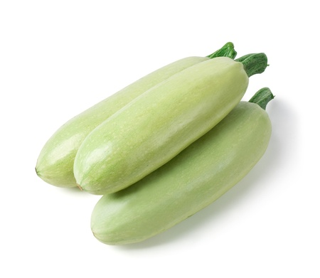 vegetable marrow: Fresh vegetable marrow. isolated on white. with clipping path