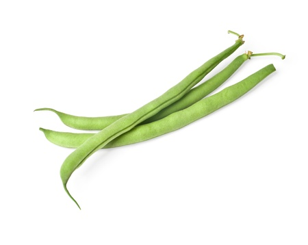 french bean: French green bean vegetable isolated on white