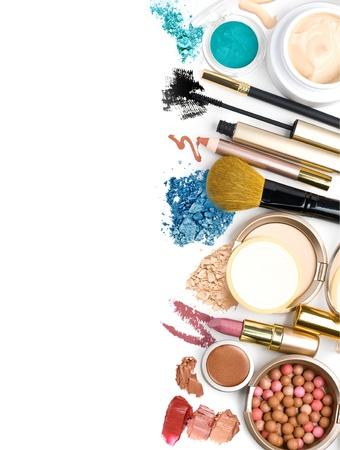 eyemakeup: cosmetics, on a white background isolated