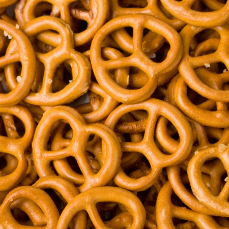 Closeup of Pretzels Fills the Frame Stock Photo - 21991841