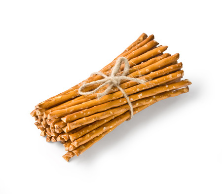 caloric: salty sticks isolated on white
