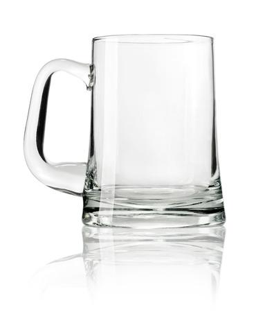 Empty beer mug isolated on white background Stock Photo