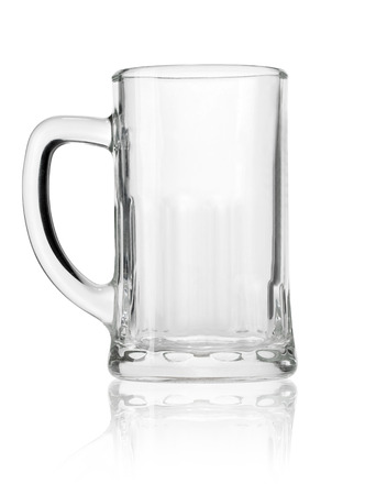 pint glass: Empty beer mug isolated on white background  Stock Photo