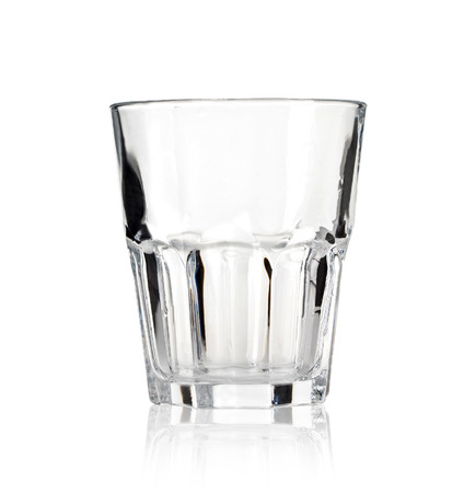 whisky glass: Empty glass for whiskey on white background   Stock Photo