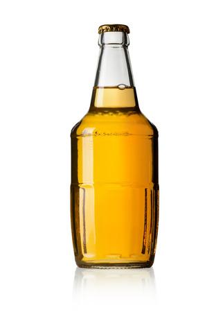 glass beer bottle: Color photo of a large beer bottle