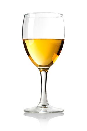white wine glass: Wineglass with white wine   Stock Photo