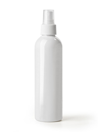 spray bottle: White container of spray bottle isolated over white background  With clipping path