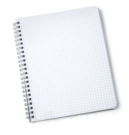 block note: blank notebook isolate on white