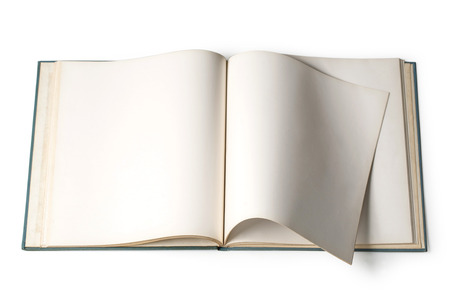 bookish: Book with blank page  Stock Photo