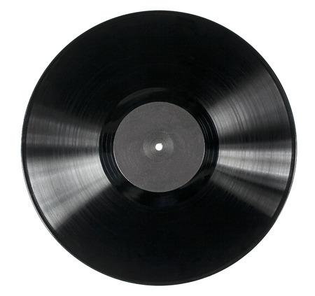 Disco de vinilo aislado en el fondo blanco Foto de archivo - 27298528
