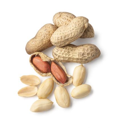 monkey nut: Peanuts on white ground   Stock Photo