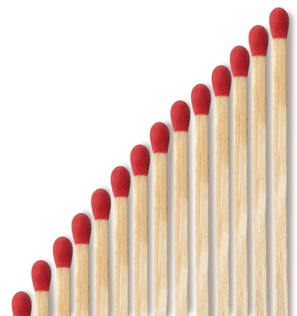 matchstick: Close-up of a red match isolated on a white background Stock Photo