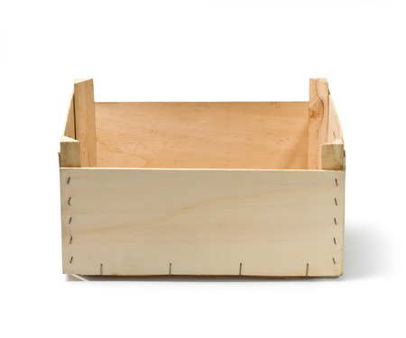 empty wooden crate isolated on white   with clipping path photo