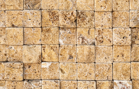 pattern of modern style design decorative uneven cracked real stone wall surface with cement photo