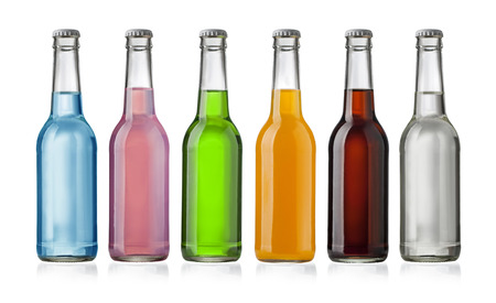 Juice bottle on white background  with clipping path