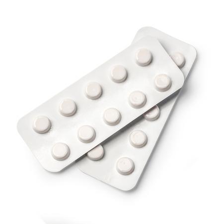 pilule: medicamentos aisladas en fondo blanco con trazado de recorte