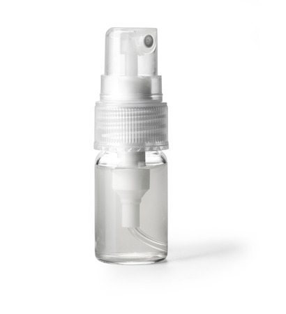 spray bottle: White container of spray bottle isolated over white background. With clipping path