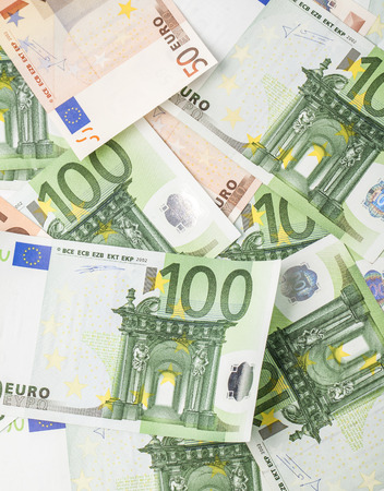 credit union: Euro banknotes, the European currency