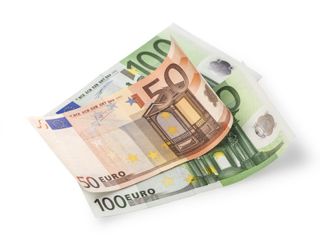 50 euro: Cheap-Money-Euro-Eu ropean currency with clipping path