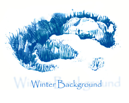 wintry landscape: abstract winter background with copy spase Stock Photo