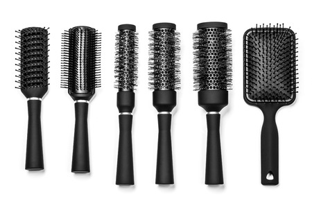 barrettes: Professional hairdresser tools Stock Photo