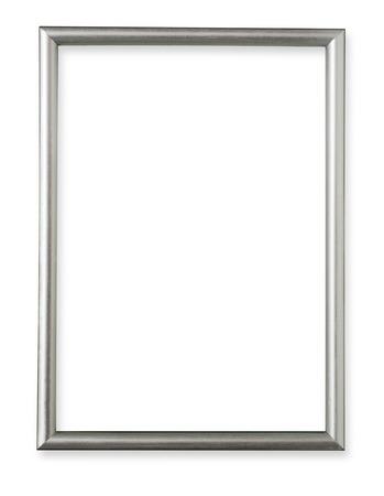 marcos decorados: Marco de plata sobre fondo blanco
