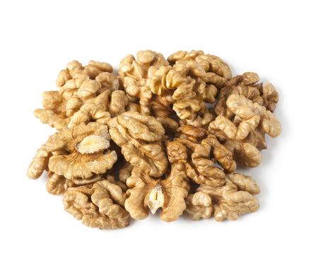 walnut half heap on white background