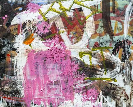 Graffiti bakstenen muur, kleurrijke achtergrond