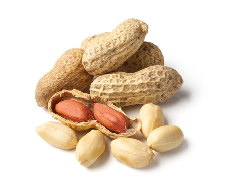 monkey nuts: Peanuts  isolated on white background with clipping path Stock Photo
