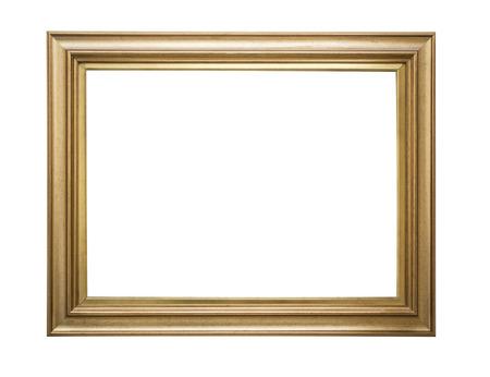 cổ điển: khung vàng. nghệ thuật Goldgilded và khung hình thủ công mẫu. Biệt lập trong trắng