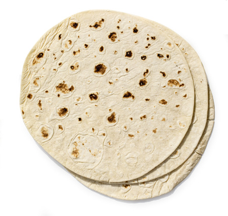 tortilla: tortilla on white background with clipping path Stock Photo