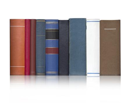 colonna vertebrale: Libri su sfondo bianco, percorso di clipping isolated.With