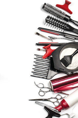 barrettes: Professional hairdresser tools, isolated on white