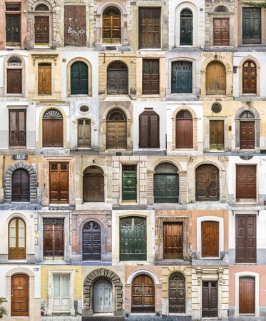Set of 45 old doors and gates from italy