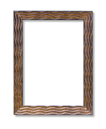 oldened: Vintage picture frame with clipping path Stock Photo