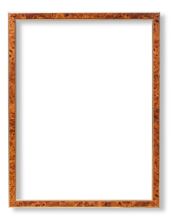 embrasure: Wooden frame for paintings or photographs.with clipping path Stock Photo
