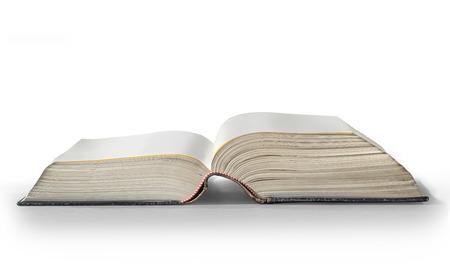 libro abierto: libro abierto sobre fondo blanco con trazado de recorte