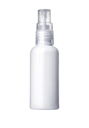 antiseptic: Spray Cosmetic Parfume, Deodorant, Freshener Or Medical Antiseptic Drugs Plastic Bottle White.with clipping path