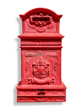 beautiful vintage letter-box, Roma, Italy. with clipping path